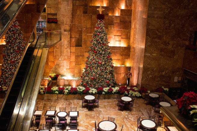 christmas trump tower new york