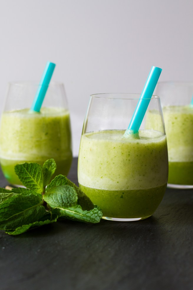 pineapple mint coconut water smoothie