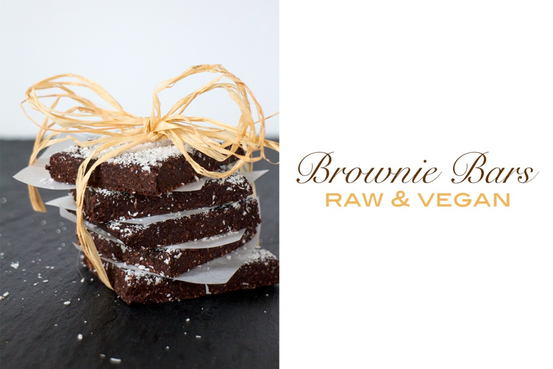 raw vegan brownie bars