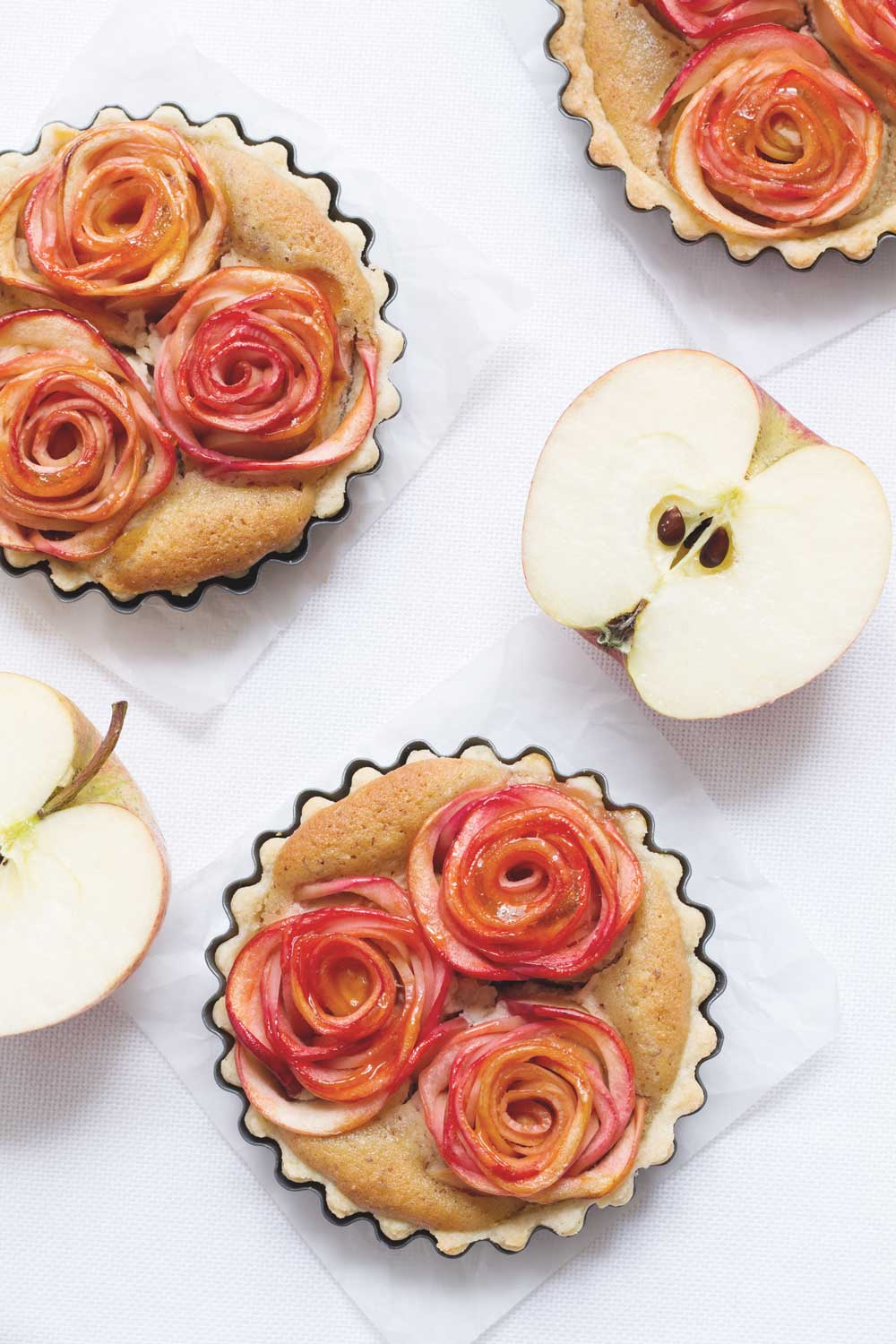 apple rose tartelettes