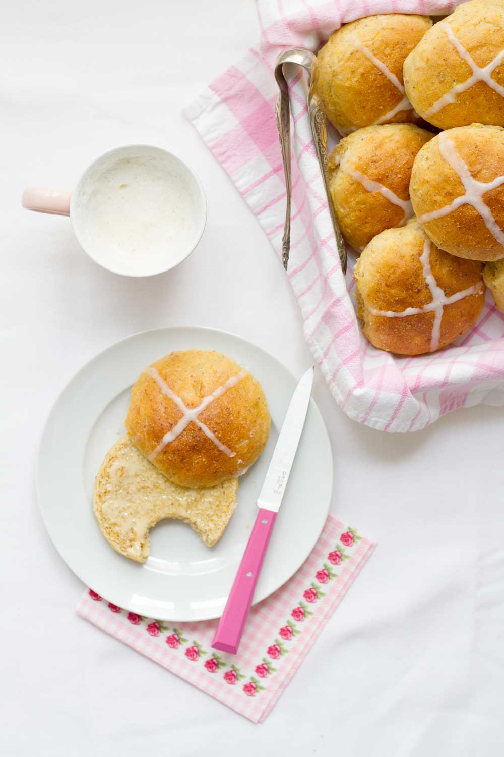 carrot hot cross buns