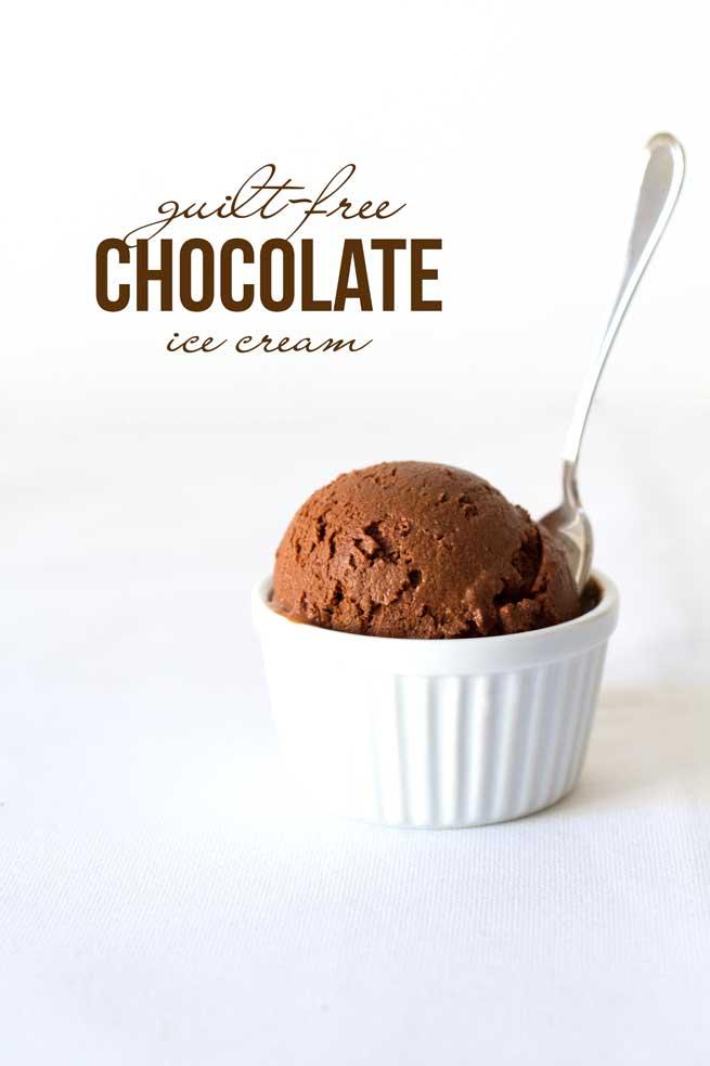 guilt free chocolate ice cream