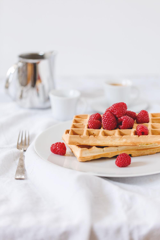 homemade yogurt waffles