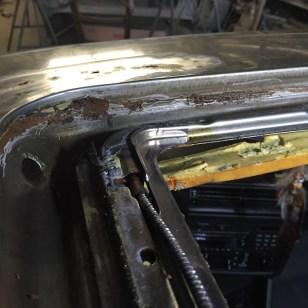 Rus damage along the seam...