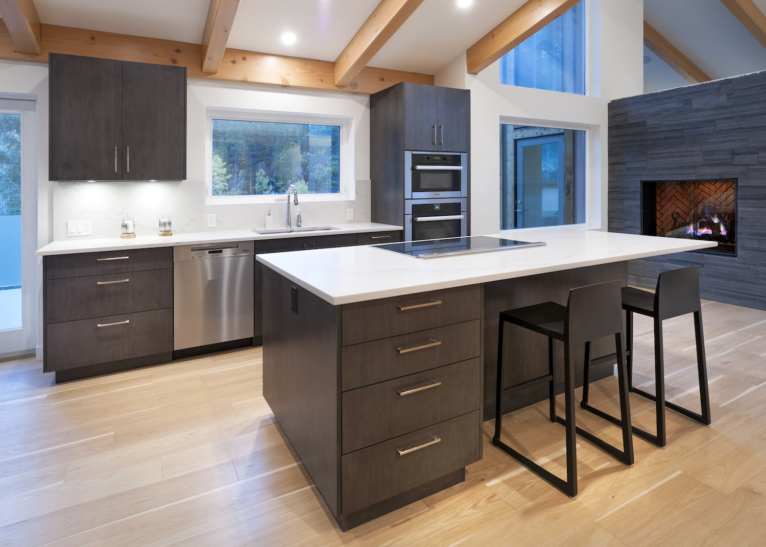 decorating kitchens rustic kitchen pendant lights bow valley dilemmas