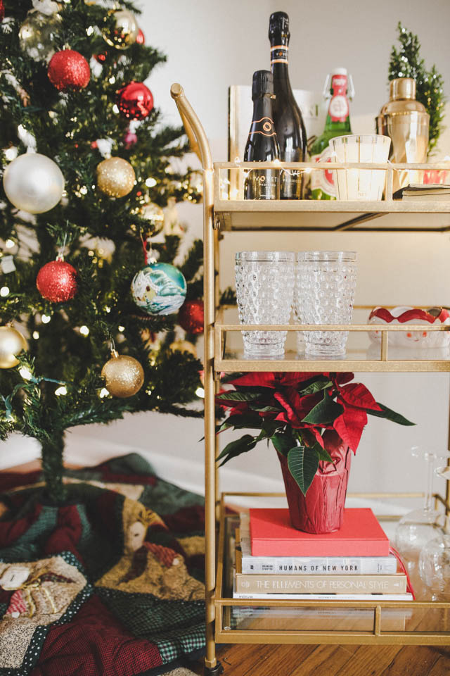 How to Style a Bar Cart for the Holidays – Little Black Blog