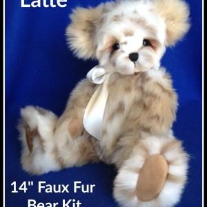 "Latte 14"" Faux Fur Teddy Bear Making Kit"