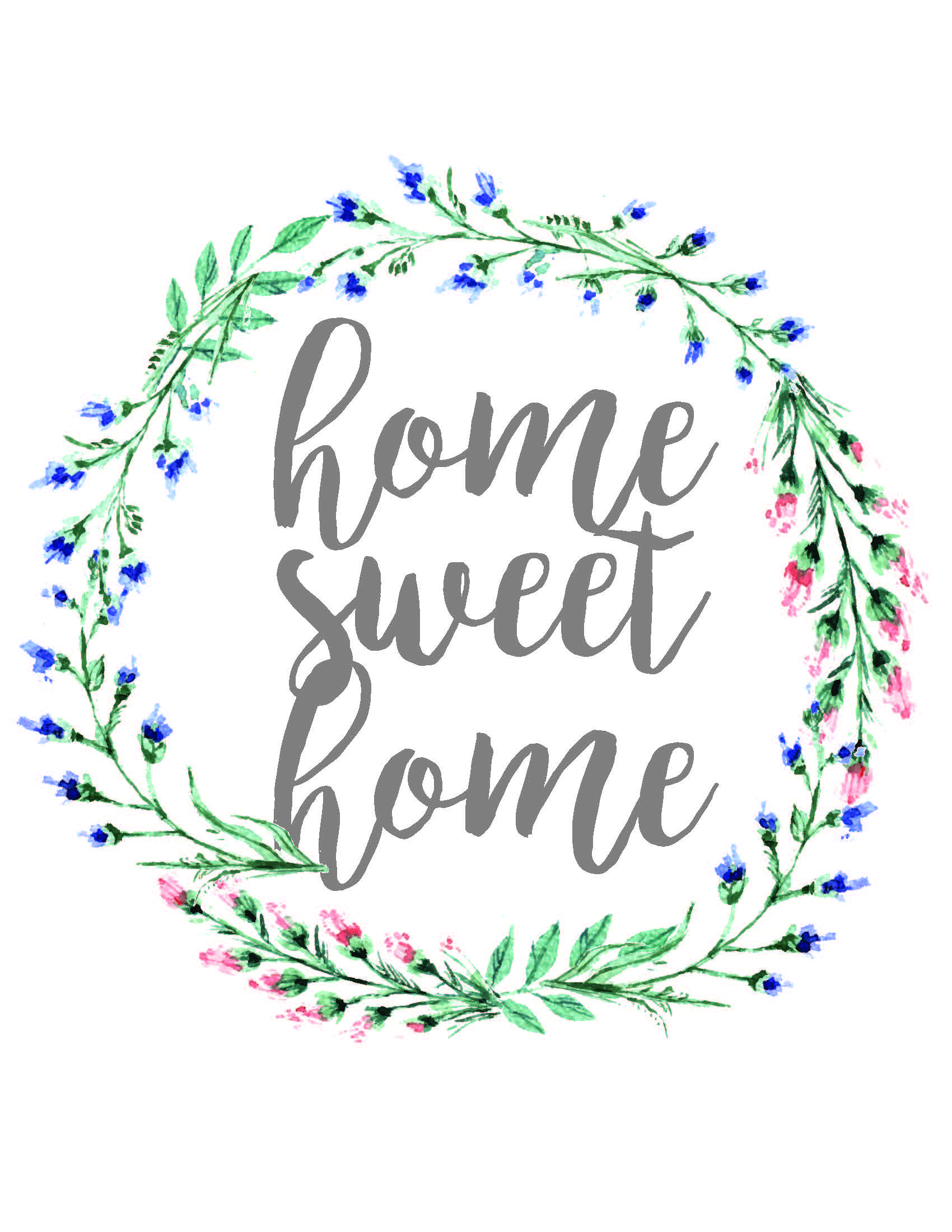It is a picture of Handy Home Sweet Home Printable