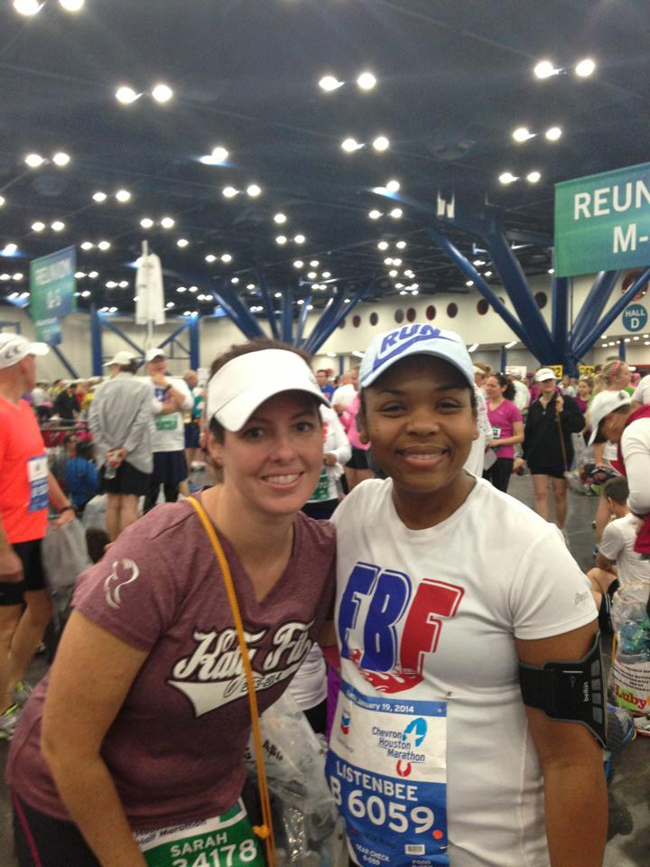 So proud of Cintia for tackling her first full marathon!