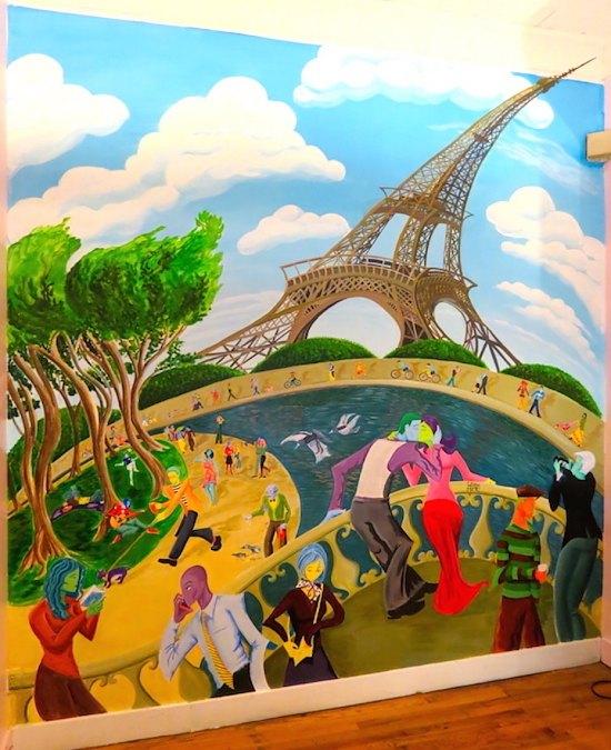 Kwadwo Adae Eiffel mural