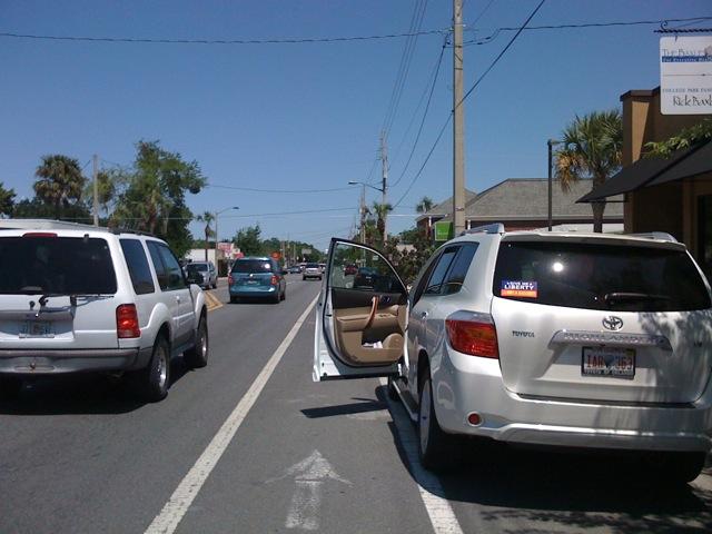 Open Car Door in Bike Lane