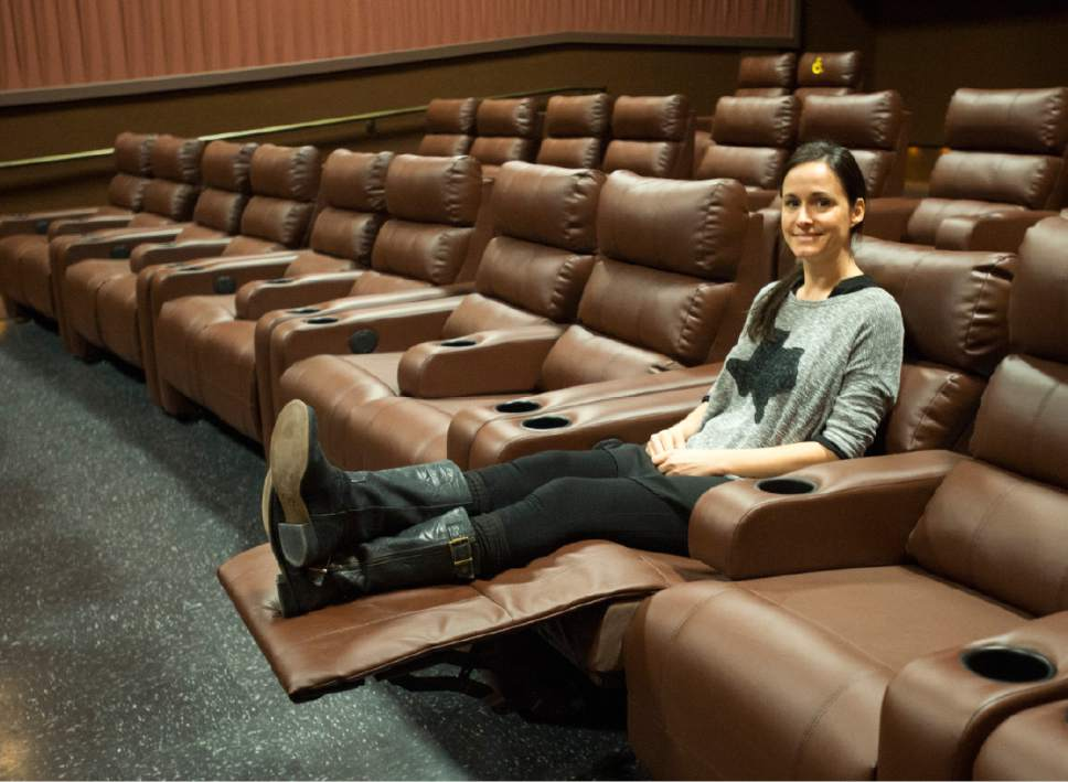 Woman in a Movie Lounger
