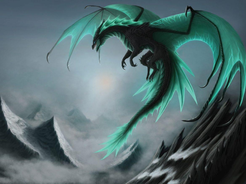 Blue Dragon Desktop Background