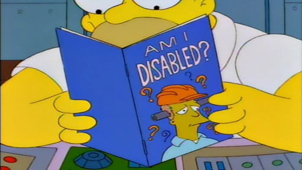 Am I Disabled? book from Simpsons