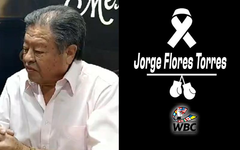 El WBC lamenta fallecimiento de Jorge Flores Torres