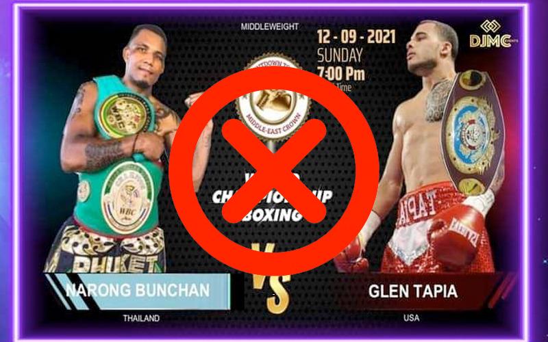 El WBC se deslinda de la pelea Narong Bunchan vs. Glen Tapia
