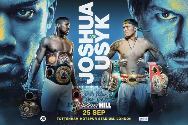 Joshua vs. Usyk el sábado en Londres y DZAN
