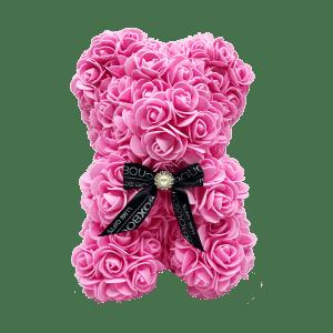 Pink Rose Bear Box