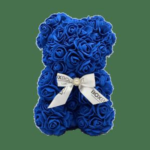 Royal blue Rose Bear Box