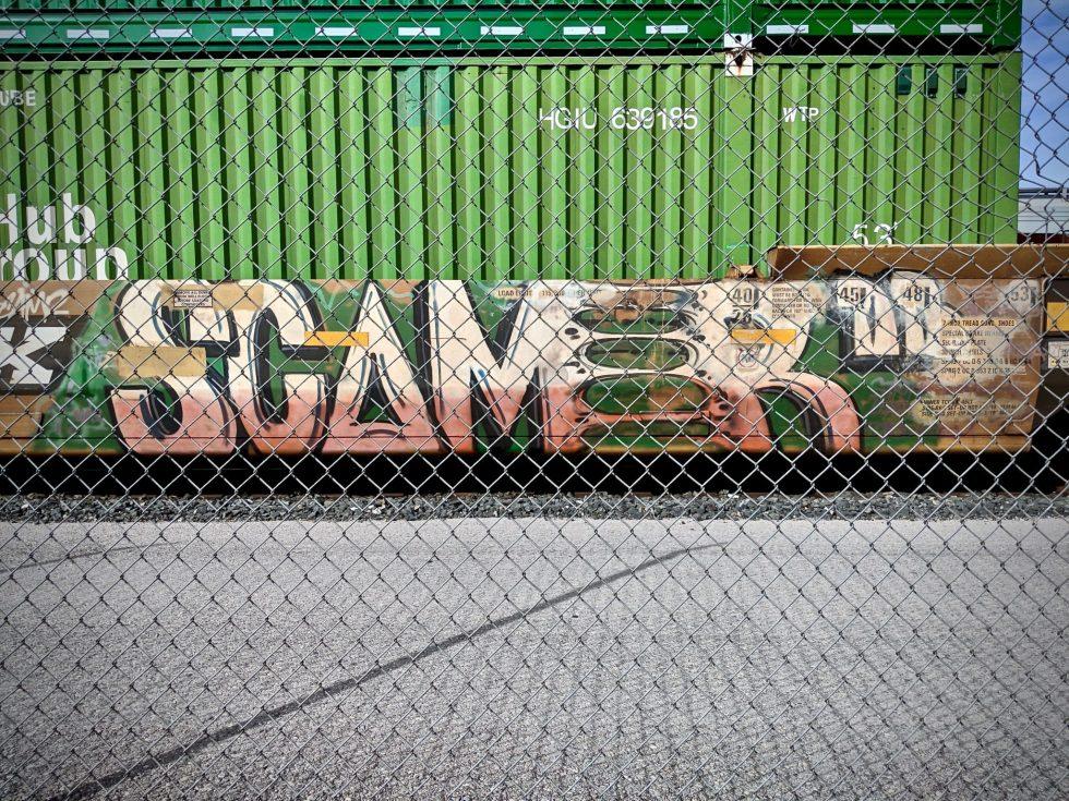 Scamer Graffiti Back