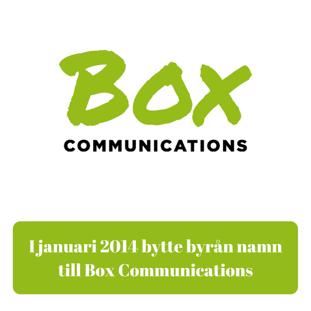 Strategisk IR-byrå, Investor Relations, Corporate Communications, medierelationer, Box Communications
