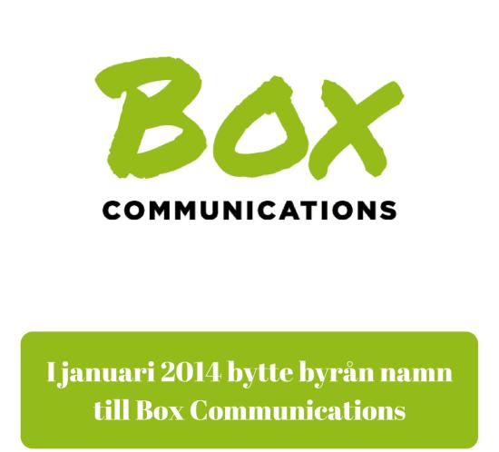 Strategisk IR-byrå, Investor Relations, Corporate Communications, medierelationer, Box Communications