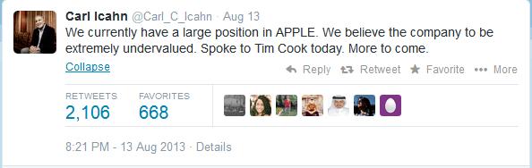 Carl Icahn Twitter