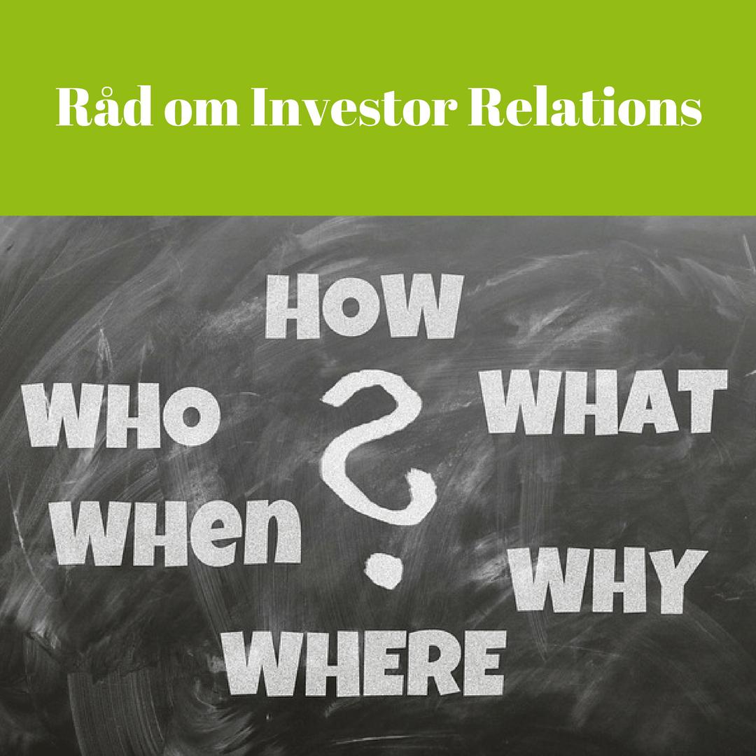 Råd om Investor Relations #7 - Glöm inte kreditanalytikerna