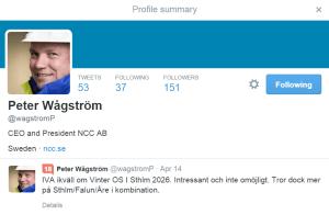 Peter Wågström, NCC