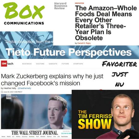 Favoritlänkar just nu: Facebooks nya mission, Tim Ferriss om Reid Hoffmans 10 budord och Amazon