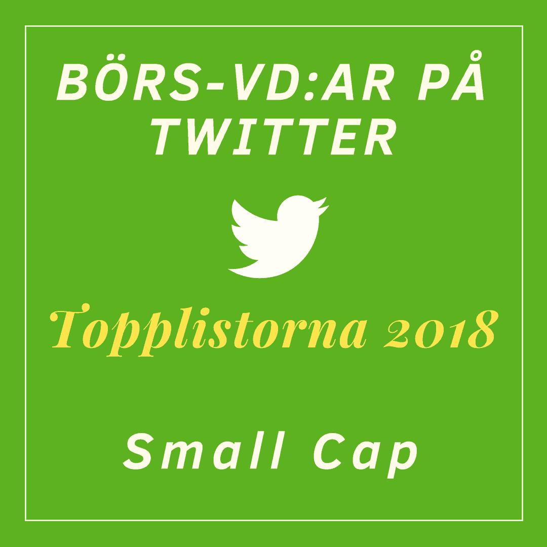 Börs-vd, twitter, topplista, Box Communications, Small Cap, Topplistan 2018