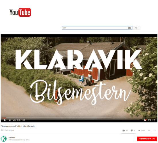 film, rörlig kommunikation, Youtube,