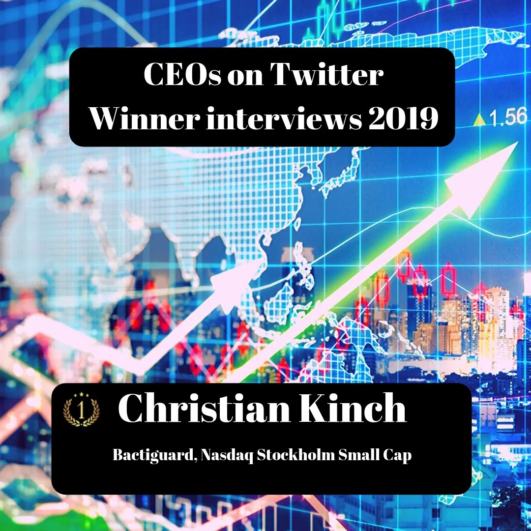 CEOs on Twitter, Christian Kinch, Bactiguard