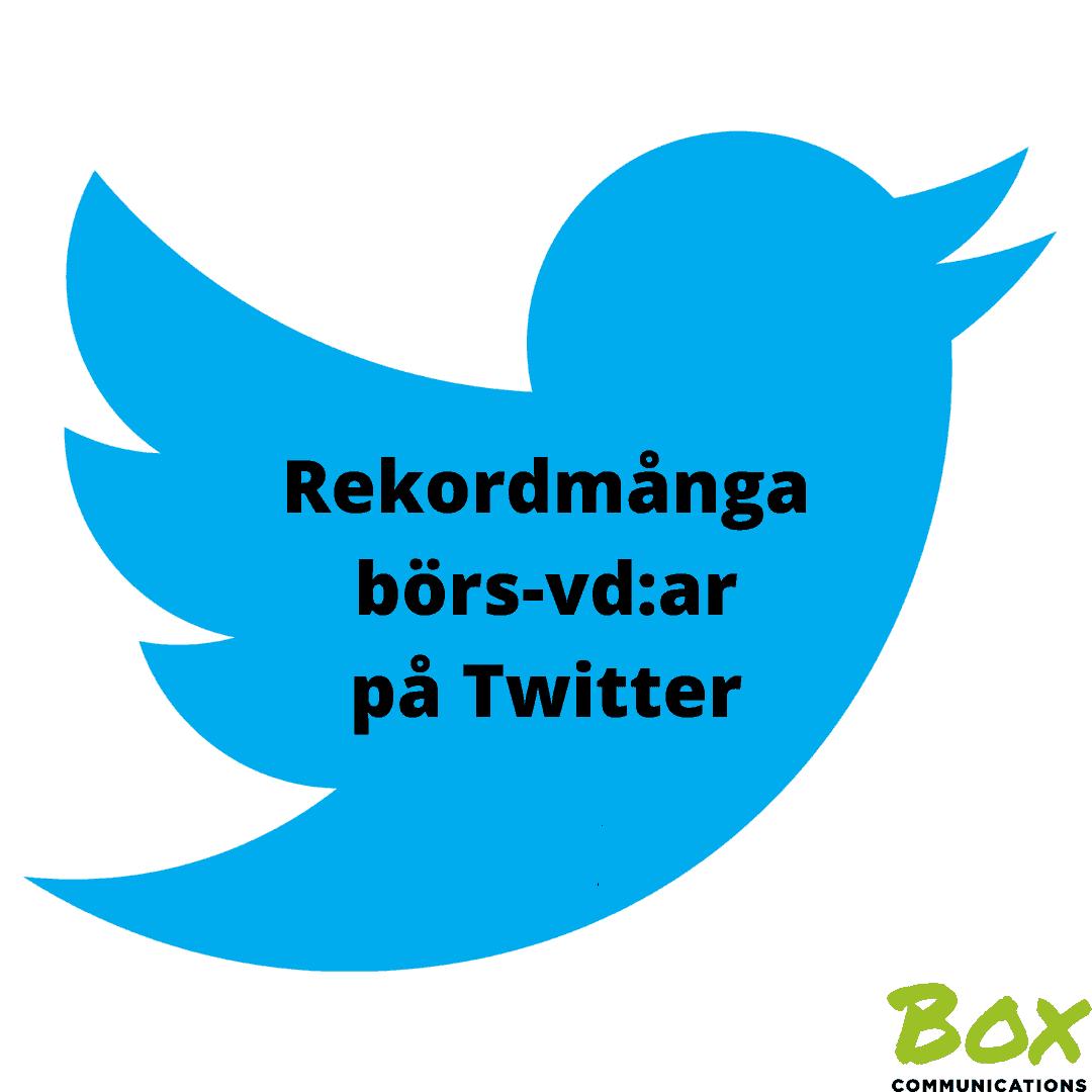 Börs-vd:ar, Twitter, digital kommunikation, Digitalt Ledarskap