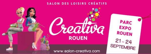 Salon Créativa de Rouen du 21 au 24 Septembre 2017