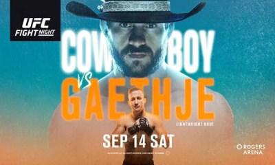 UFC Fight Night CERRONE vs GAETHJE - Résultats