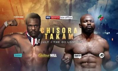 Carlos TAKAM vs Dereck CHISORA le 28 juillet à Londres !