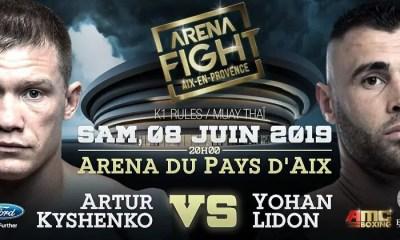 Yohan LIDON vs Artur KYSHENKO, l'ARENA FIGHT signe un coup de maître !