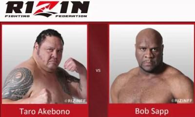 Bob Sapp vs Taro Akebono - Full Fight Video - Rizin FF