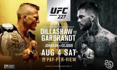 UFC 227 - DILLASHAW vs GARBRAND 2 - Résultats
