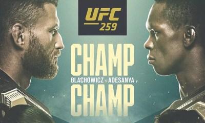 UFC 259 - Blachowicz vs Adesanya  Résultats des combats