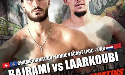 MJM 16 - Qendrim Bajrami affrontera Redouan Laarkoubi pour une ceinture mondiale IPCC