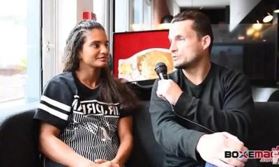 Anissa MEKSEN - ITW suite à sa victoire sur Amel DEHBY au GLORY 53 - VIDEO