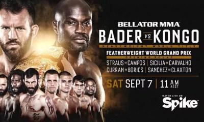 BELLATOR 226 - KONGO vs BADER - Résultats de la soirée
