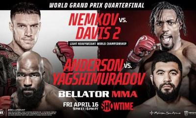 Bellator 257 - Nemkov Davis 2 - Résultats des combats