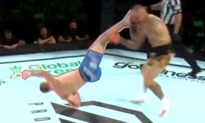 Davy GALLON sort un énorme KO Rolling Thunder sur un vétéran de l'UFC !