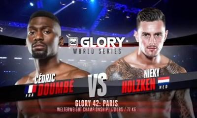 Cedric DOUMBE vs Nieky HOLZKEN 2 - Combat de Kickboxing - Fight Video - GLORY 42