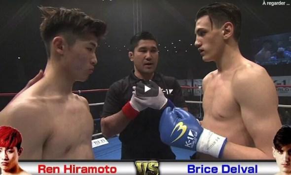 Brice Delval vs Ren Hiramoto - Full Fight Video - K-1 World GP