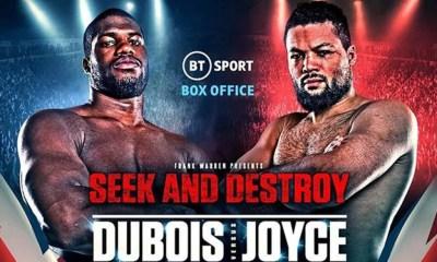 Daniel Dubois vs Joe Joyce - Info Direct Live et Résultats du combat