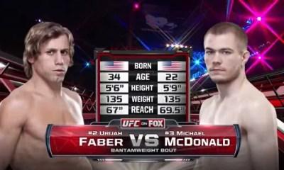 Urijah Faber vs Michael McDonald - Fight Video UFC